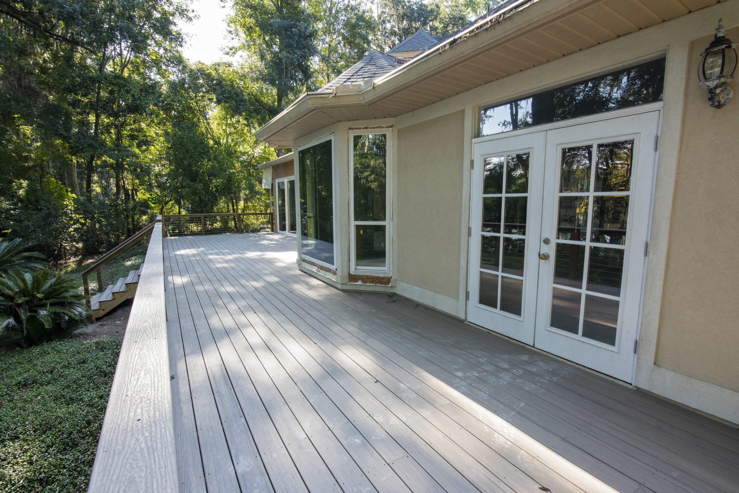 custom porch/deck built by shore builders inc