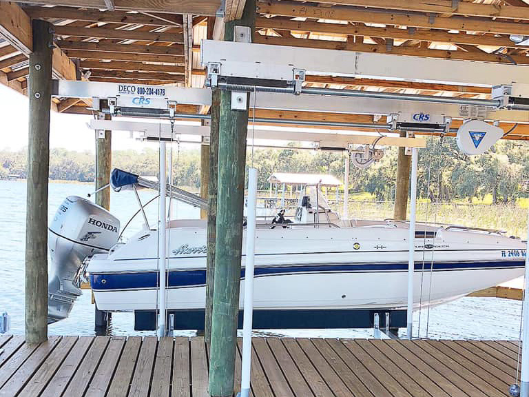 custom boatlift by shore builders inc