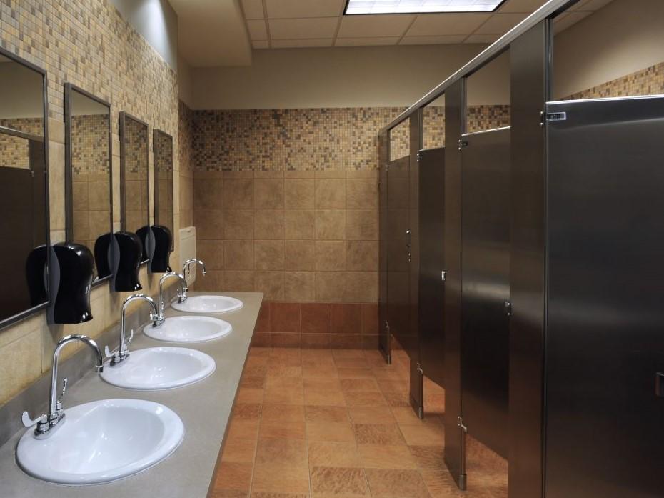 luxury bathroom built by shore builders inc